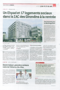 Page de couverture de l'article du Progrès