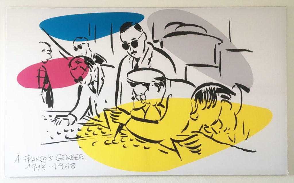 Tableau de Richard Atlan en hommage à François Gerber