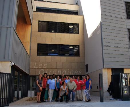 Équipe des Girondines à l'ouverture du site