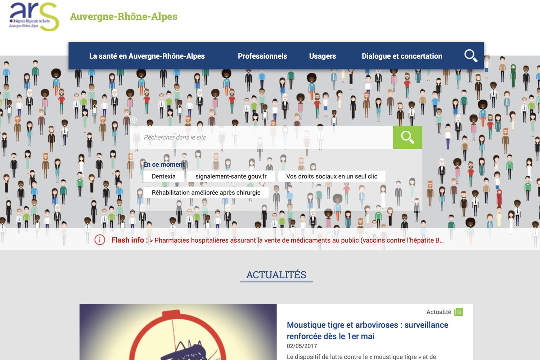 Site internet de l'ARS Rhône-Alpes