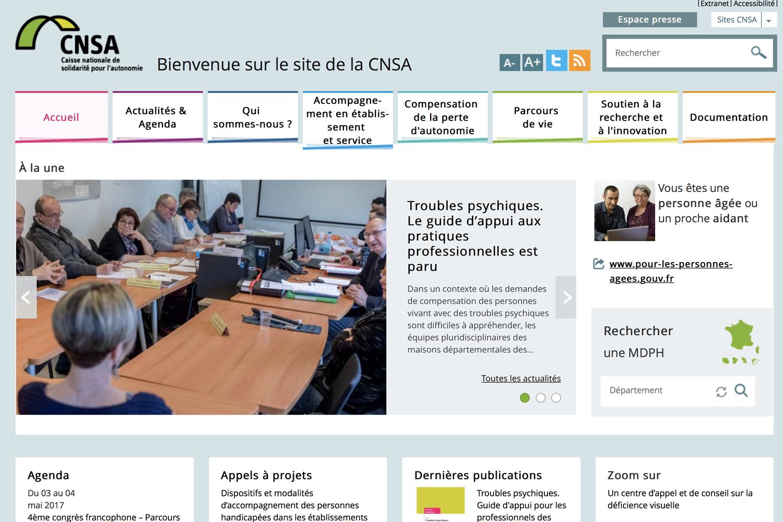 Site internet de la CNSA