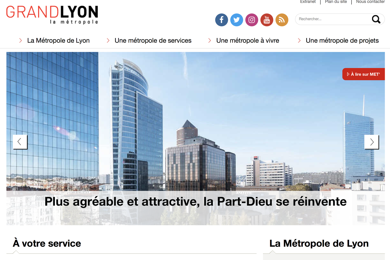 Site internet de la Métropole de Lyon