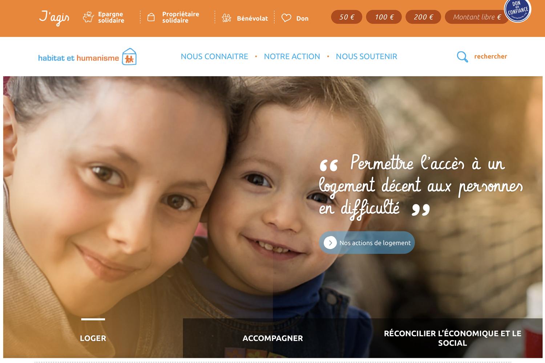 Site internet de Habitat et Humanisme