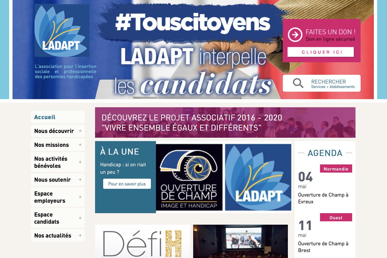 Site internet de LADAPT