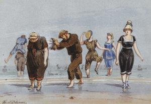 Sur la plage - Peinture de François d'Orléans