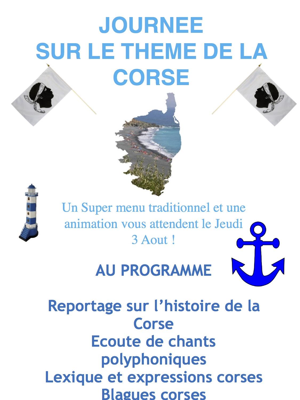 Journée du 3-08 sur le thème de la Corse