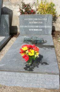 Tombe de François Gerber et Renée Marchand-Gintzburger au cimetière de Soucieu-en-Jarrest (69)
