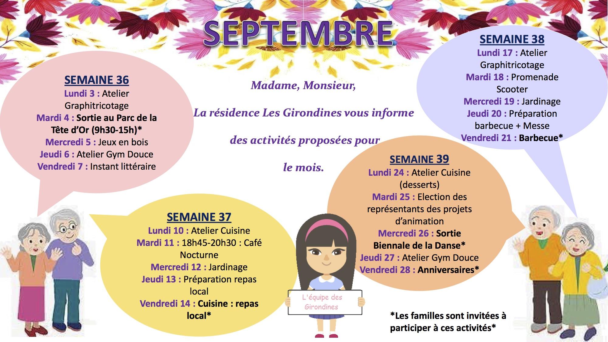 Programme des activités du mois de septembre 2018 (format jpg)