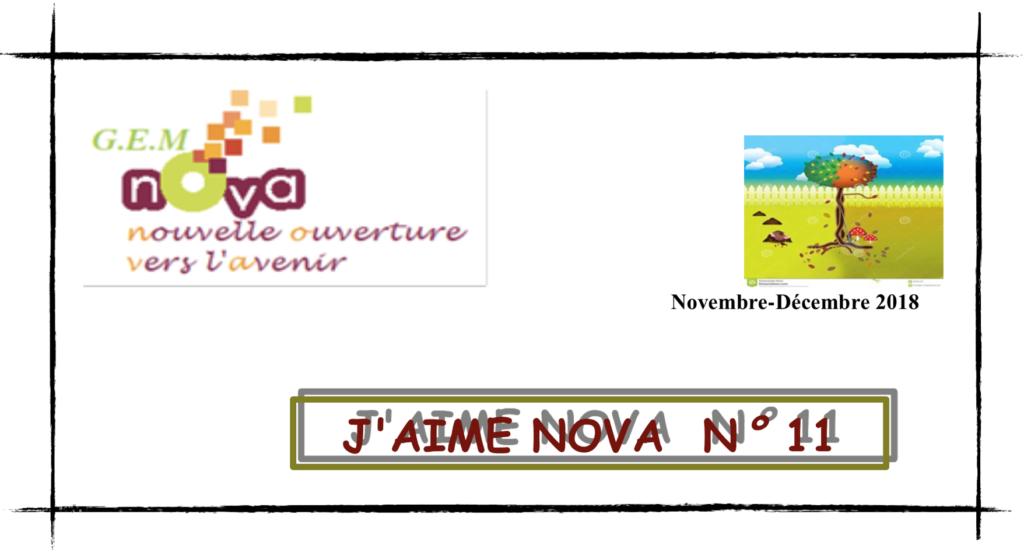 programme des activités GEM Nova pour les mois de novembre et décembre 2018 (vignette)