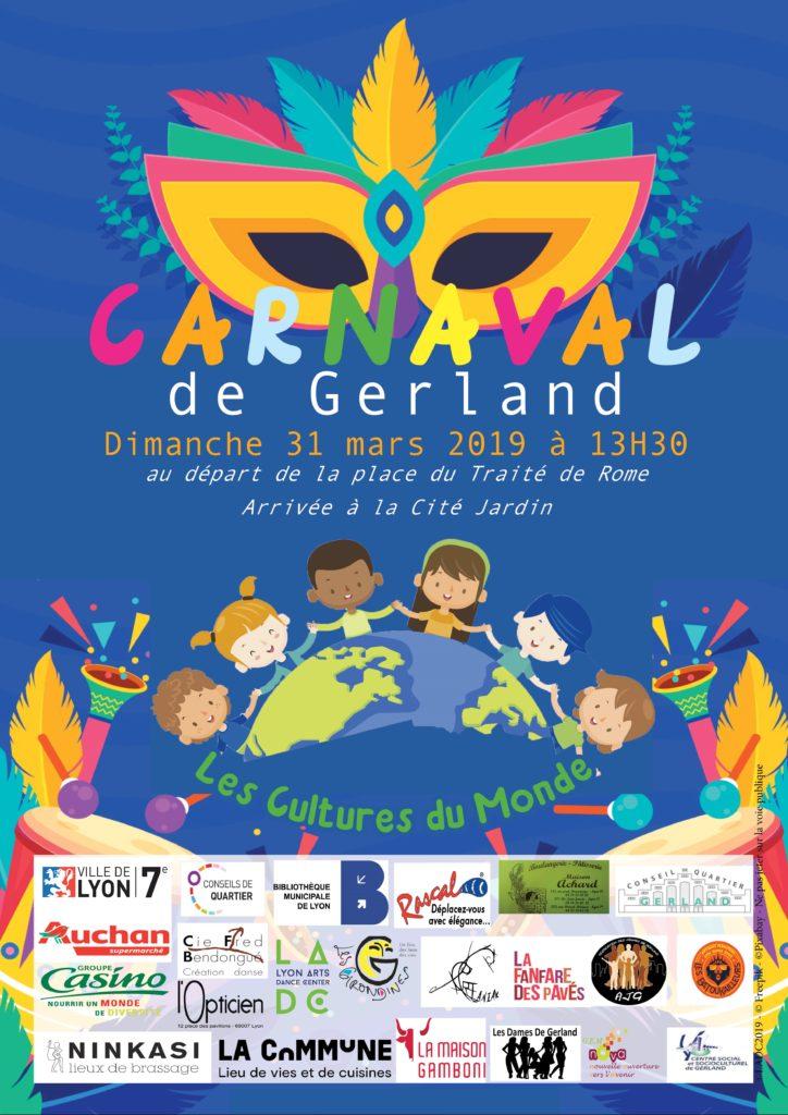 Affiche du carnaval de Gerland 2019 (jpeg)