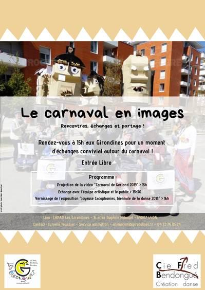 annonce de la présentation des images du carnaval