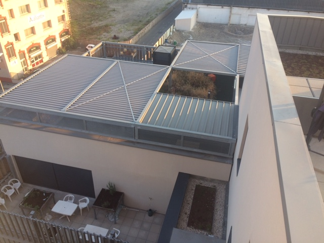 Jardins terrasses des Girondines (vus du toit)