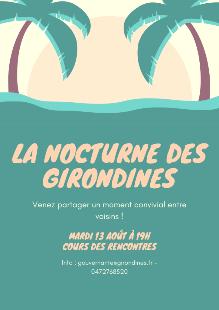 Annonce nocturne des Girondines août 2019